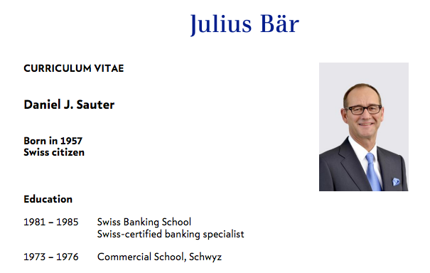 Bär-Präsident Sauter schönt sein Curriculum - Inside Paradeplatz