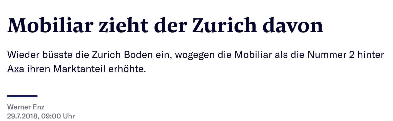 Zurich Versicherung Vor Informatik Massenabbau Inside Paradeplatz