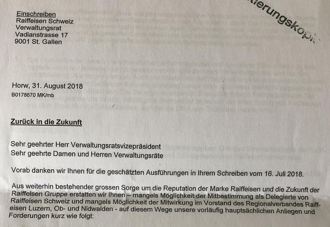Winkelried Von Raiffeisen Schickt Ultimatum An Vr Inside Paradeplatz