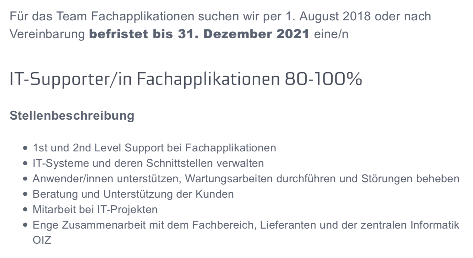 Juli frühmorgens, gut 2 Wochen nach der Online-Bewerbung des jungen Manns  aus dem Kanton Aargau, kam die Absage.