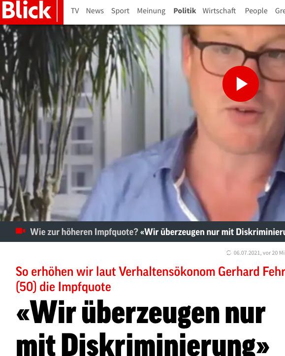 Schweizer Propaganda Blatt Blick lanciert Forscher mit Blödsinn-Sterberisiko